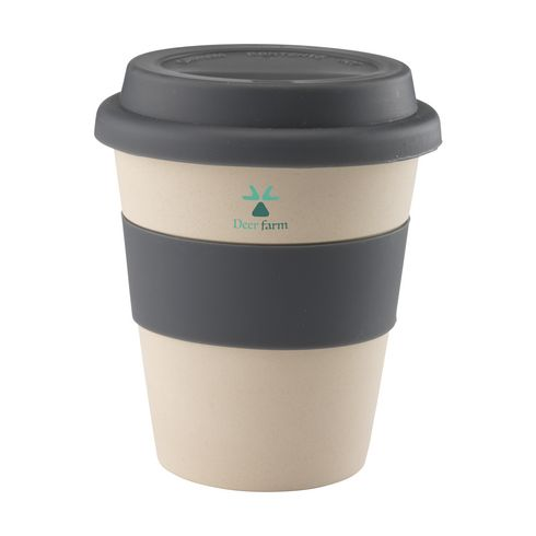 Bamboe coffee to go 350 ml grijs