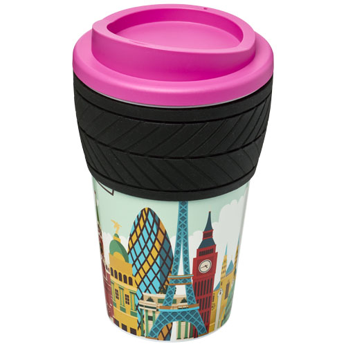 Coffee to go beker 350 ml dubbelwandig met tyre grip